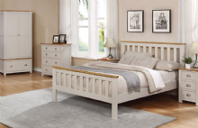 Elodie bedframe - Oak & light Grey finish - Single/Double/King